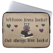 Owl Always Love Books Laptop Sleeve