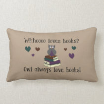Owl Always Love Books Lumbar Pillow