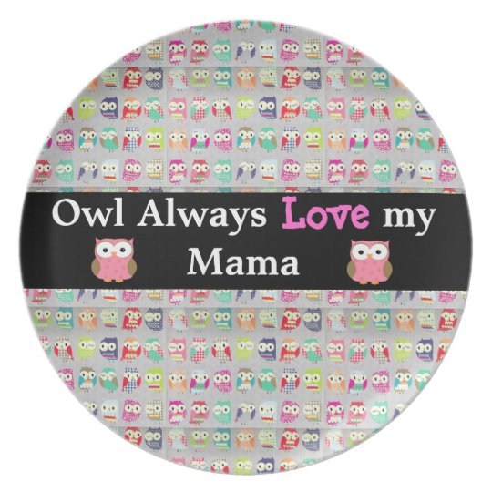 Owl Always Love Mama Decorative Mother's Day Plate