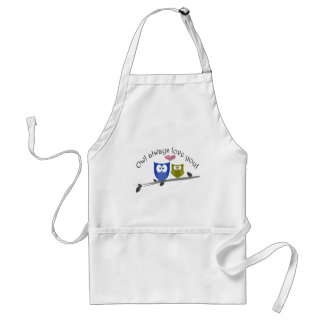 Owl always love you! adult apron