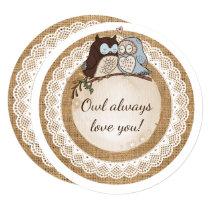 Owl Always Love You Casual Wedding Card