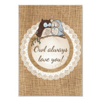 Owl Always Love You Casual Wedding RSVP Card