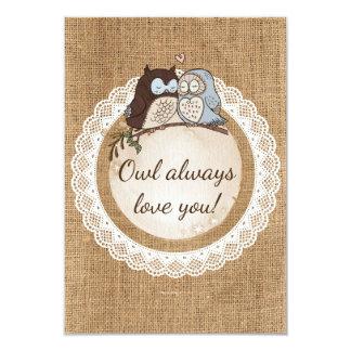 Owl Always Love You Casual Wedding RSVP Card