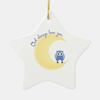 Owl Always Love You Ceramic Ornament