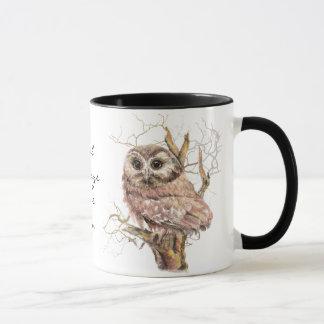 "Owl Always Love You', Cute Baby Owl, Bird"" Mug"