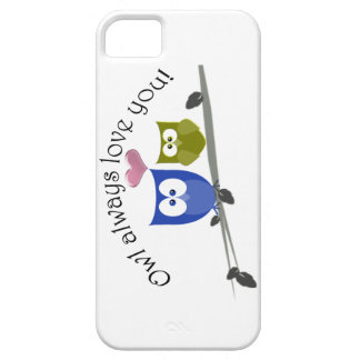 Owl always love you, cute Owls Art iPhone 5 Case