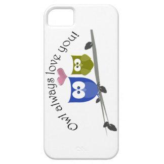 Owl always love you, cute Owls Art iPhone SE/5/5s Case