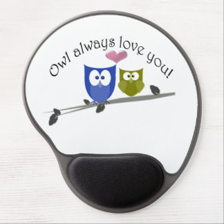 Owl always love you gel mouse pad