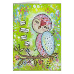 owl always love you-green greeting card