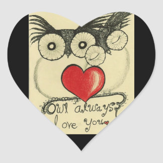 Owl Always Love you - Heart Sticker