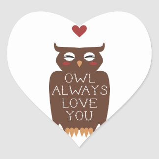 Owl Always Love You Heart Sticker