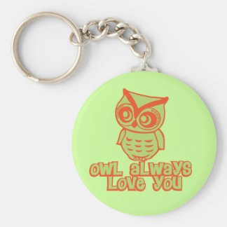 Owl Always Love You! Basic Round Button Keychain