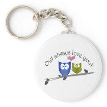 Owl always love you! keychain