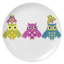 Owl' Always Love You Melamine Plate