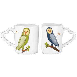 Owl Always Love You Mr. and Mrs. couples mug
