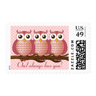 Owl always love you   Postage