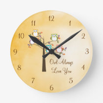 Owl Always Love You Round Clock