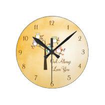 Owl Always Love You Round Clock