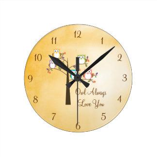 Owl Always Love You Round Clocks