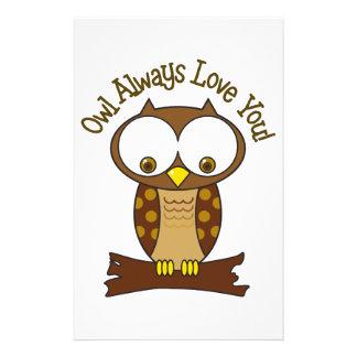 Owl Always Love you Stationery