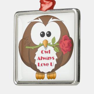 Owl Always Love You Theme Metal Ornament