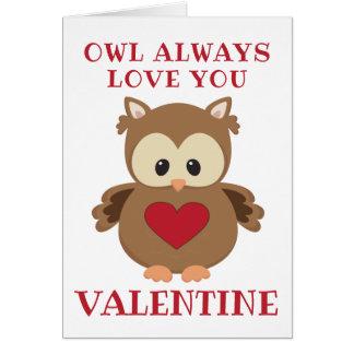 Owl Always Love You, Valentine Card
