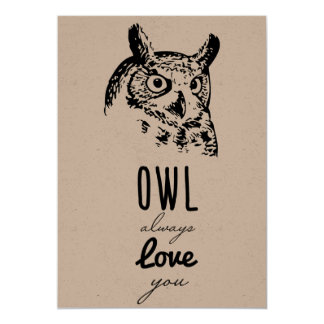 Owl always love you - Valentines Card
