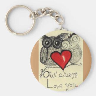 Owl always Love you... Whimsical keychain!