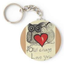 Owl always Love you... Whimsical keychain! Keychain