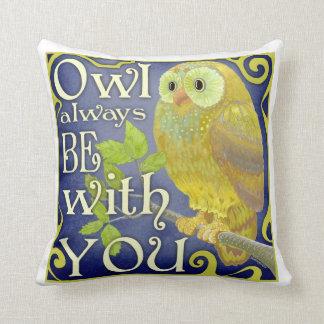 Owl Always throw pillow