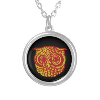 owl amazing bird silver plated necklace