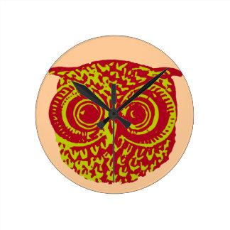 owl amazing birds round wallclock