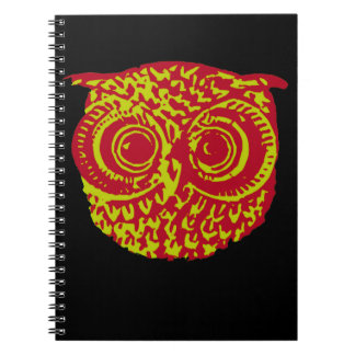 owl amazing birds spiral notebook