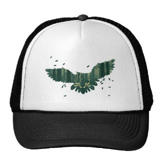Owl and Abstract Forest Landscape Trucker Hat