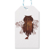 Owl and Autumn Forest Landscape2 Gift Tags