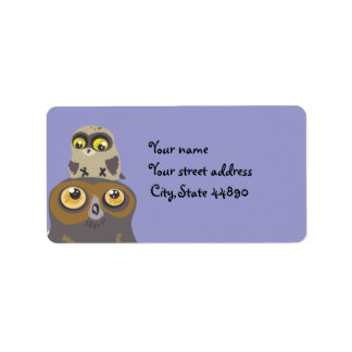 Owl and Baby ~Address Labels
