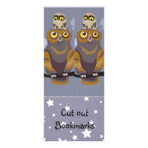 Owl and Baby ~ Cutout Bookmarks Rack Card