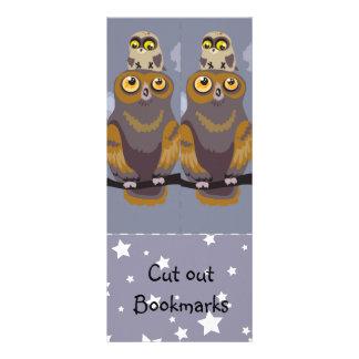 Owl and Baby ~ Cutout Bookmarks Custom Rack Card