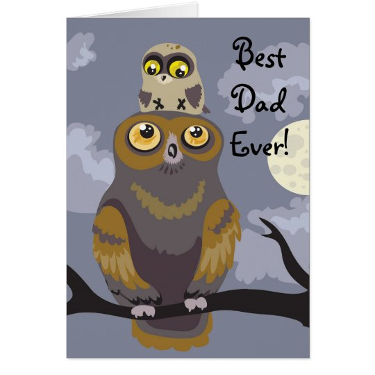 Owl and Baby Father's Day Card