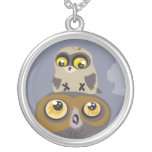 Owl and Baby ~ necklace