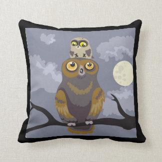 Owl and Baby~pillow Throw Pillow