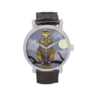 Owl and Baby wrist watch