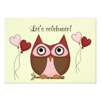 Owl and Balloons Celebration Card