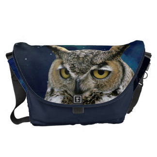 Owl and Blue Moon Courier Bag