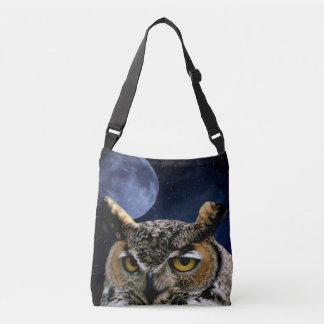Owl and Blue Moon Crossbody Bag
