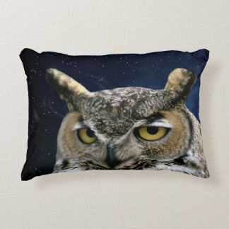 Owl and Blue Moon Decorative Pillow