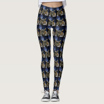 Owl and Blue Moon Leggings