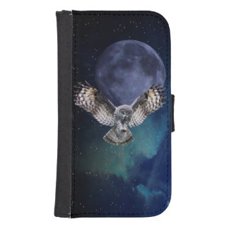 Owl and Blue Moon Samsung Galaxy S4 Wallet Case