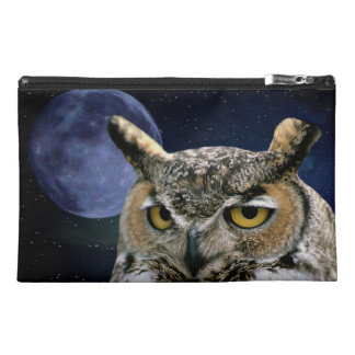 Owl and Blue Moon Travel Accessory Bag