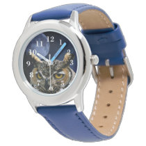Owl and Blue Moon Wristwatch